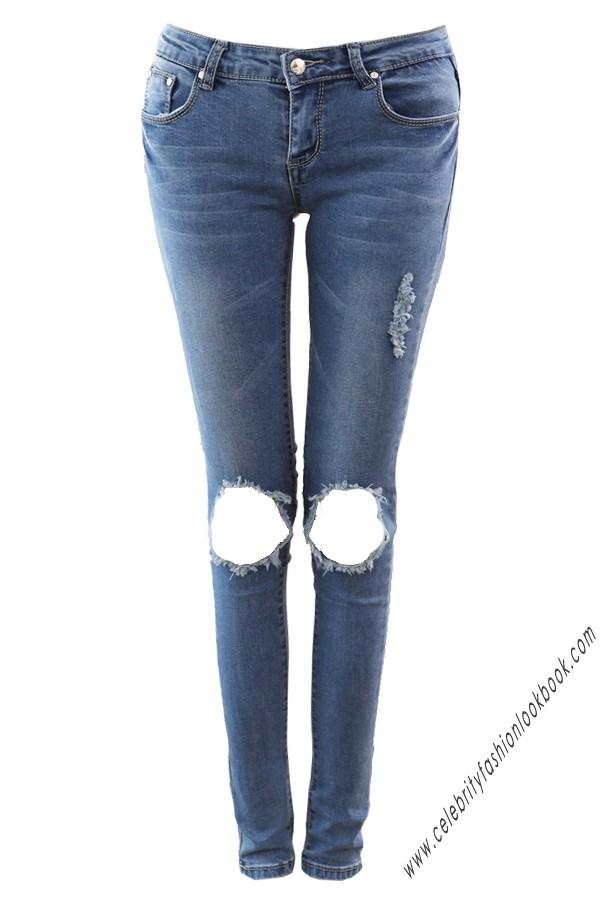 Torn Knee Skinny Jeans
