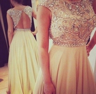 dress prom dress beige dress long prom dress