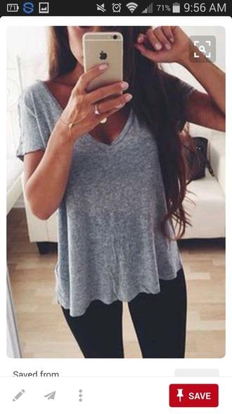 shirt grey casual cute pretty summer