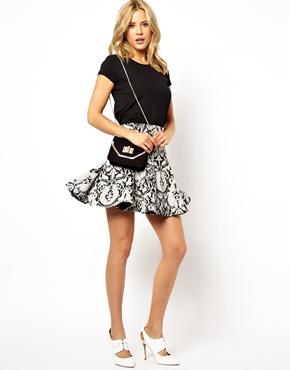 ASOS   ASOS Mini Skirt in Flippy Jacquard at ASOS