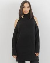 dress,black dress,cold shoulder,black cold shoulder dress,black,cut-out,cut out shoulder,cut out shoulder dress
