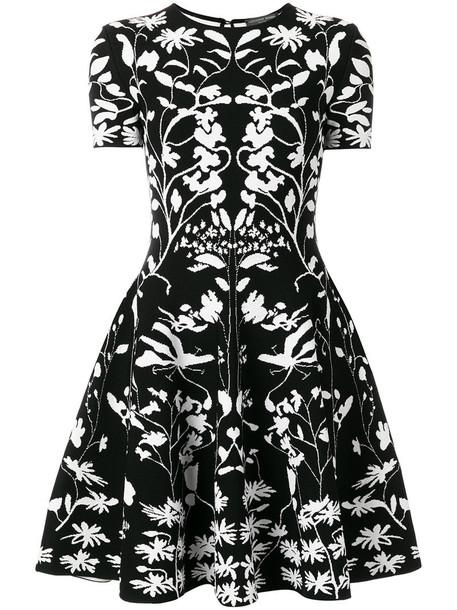 Alexander Mcqueen dress mini dress knitted mini dress mini women spandex black