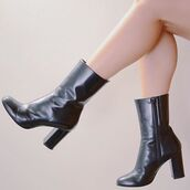 shoes,low boot,black