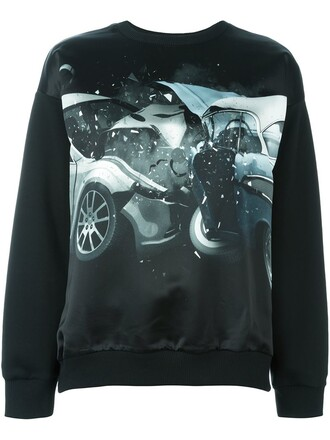 sweatshirt car black sweater