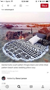 home accessory,aztec blanket,white,black,blanket,aztec,tribal pattern,tribal blanket