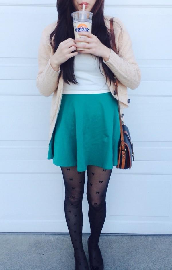 skirt forever 21 teal skater skirt