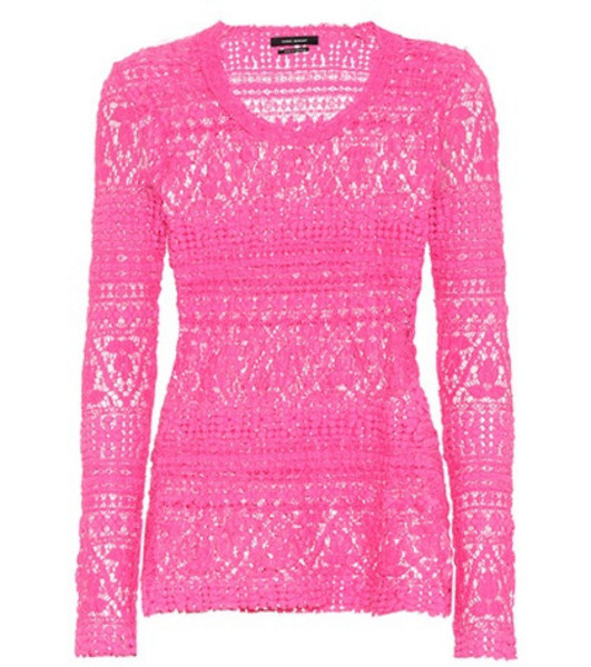 Isabel Marant Cotton-blend top in pink