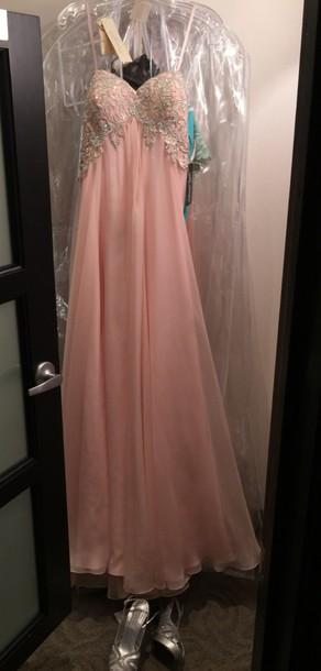 dress soft pink prom