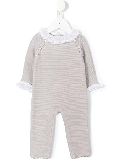 Tartine Et Chocolat ruffled collar knit romper, Newborn Girl's, Size: 1 mth, Grey