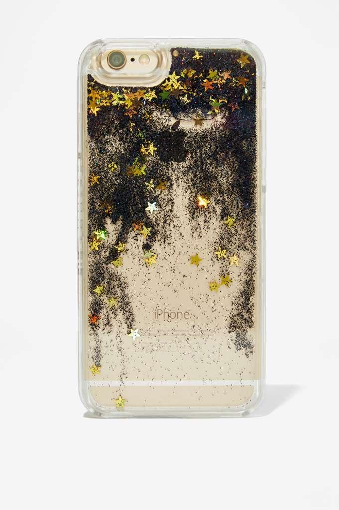 Skinnydip London Fairy Dust Iphone 6 Case Black Glitter