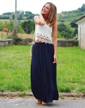 skirt,navy,maxi skirt