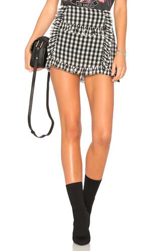 skirt ruffle gingham black
