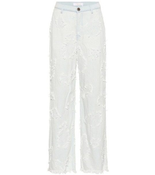 Chloé Embroidered jeans in blue