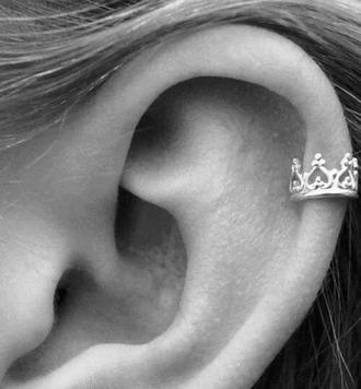 jewels crown earrings earring piercing
