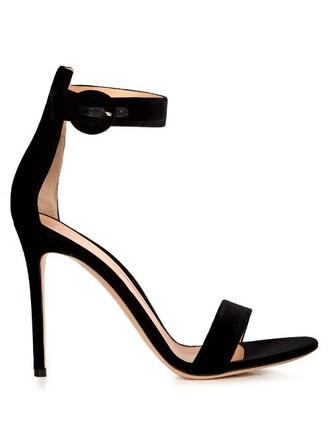 sandals velvet black shoes