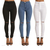 Women High Waist Skinny Pants Ripped Knee Jeans Stretch Leggings Trousers