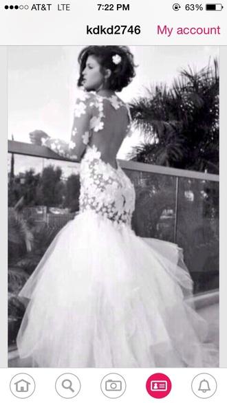 dress prom dress wedding dress lace dress open back dress beuaty