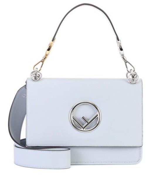 Fendi bag shoulder bag leather grey