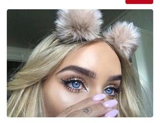 hair accessory fur cute balls fur balls headband flower headband fashion faux fur