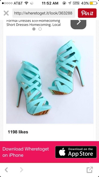 shoes teal heels