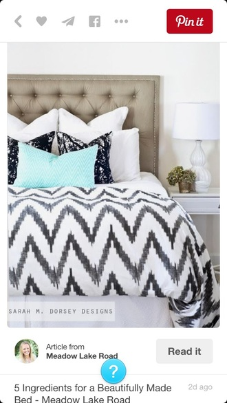 home accessory bedding chevron