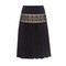 Plissé and macramé-lace skirt