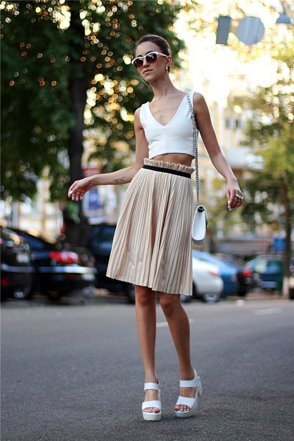 tina sizonova skirt shoes bag