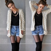 sweater,cardigan,white,white cardigan,knit,creme,cute outfits,tan sweater,slouchy sweater,jeans