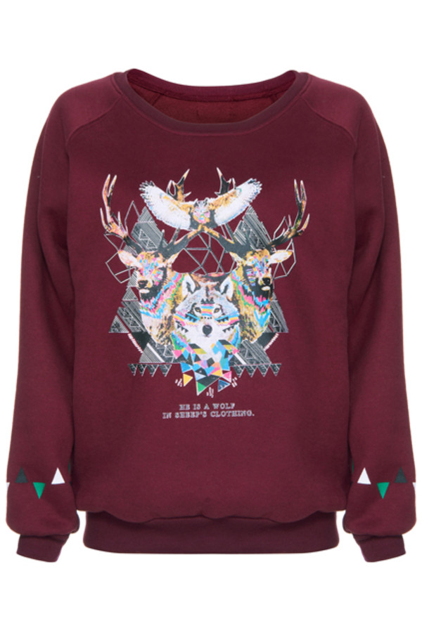 sweater shirt winter sweater beautiful tumblr wolf sheep oversized sweater