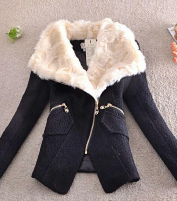 jacket fur collar jacket