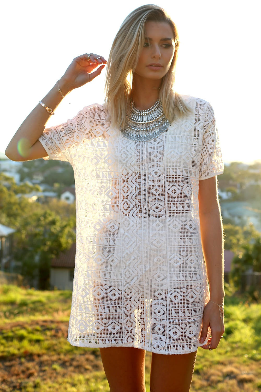 White Haven Shift Dress | SABO SKIRT