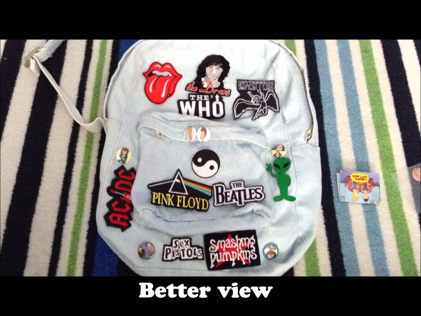 Backpack With Band Patches – TLMODA