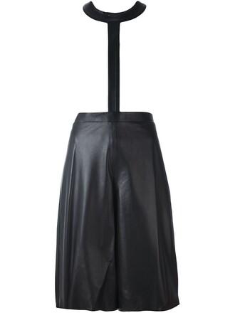 shorts women leather black