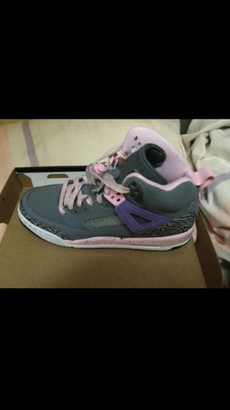 shoes pink green purple air jordan 4