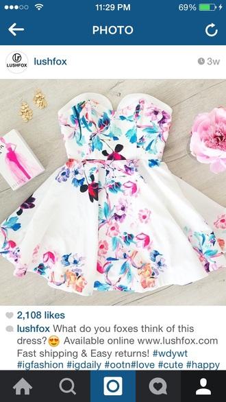 dress white dress cute dress floral dress short dress birthday dress