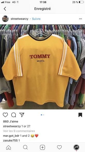 t-shirt yellow tommy hilfiger