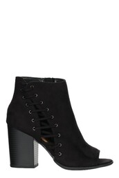 shoes,black,laced,peep toe,bootie