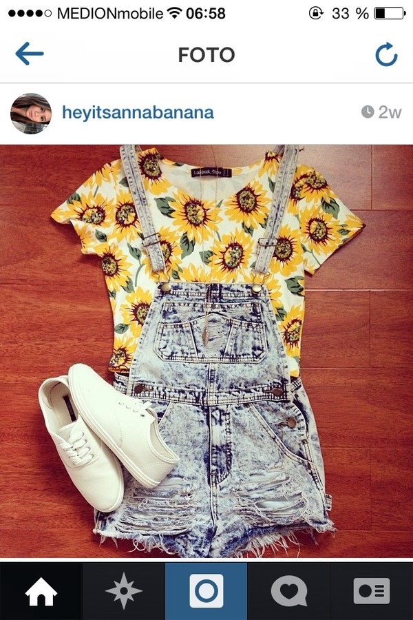t-shirt crop tops crop sunflower sunflower floral shorts