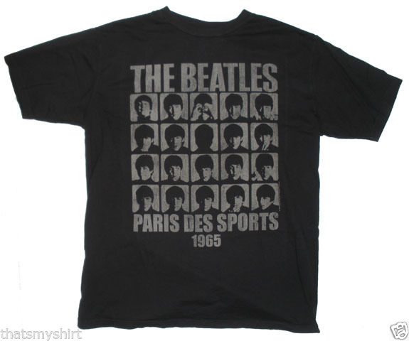 New Authentic Junk Food Mens The Beatles Paris Des Sports 1965 T Shirt Size Med | eBay