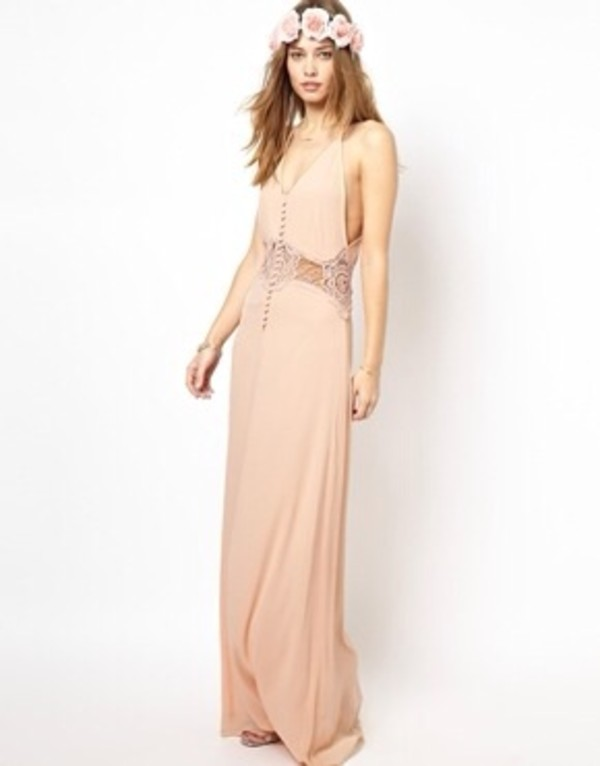 dress prom peach vintage jarlo hat