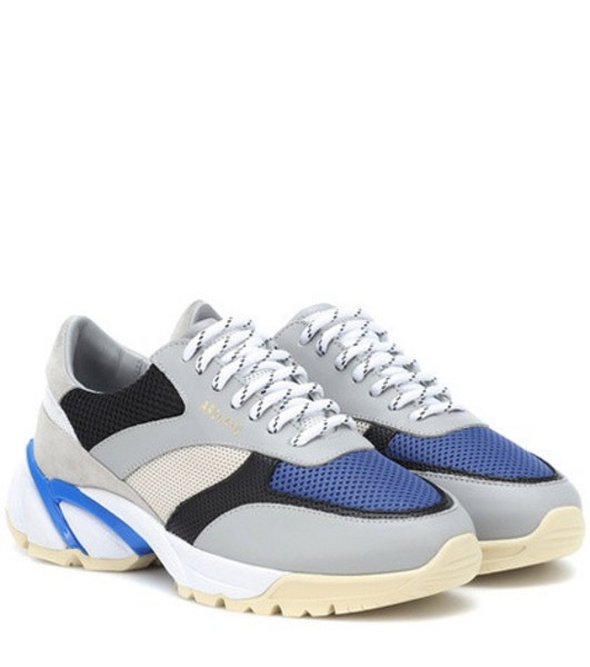 Axel Arigato Tech Runner leather sneakers in blue