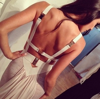 dress suspenders straps bodycon dress backless backless dress nude pink beige nude dress bodycon nude dress sexy dress sexy wedding gorgeous gorgeous dress