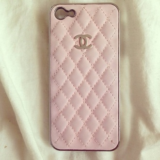 jewels pink chanel iphone iphone 5 case phone cover ipadiphonecase.com handy cover mobile pastel phone case pink chanel iphone case