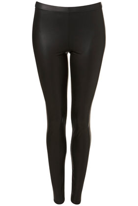 Wet Look Leggings - Leggings  - Clothing  - Topshop