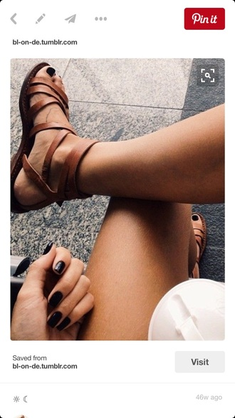 shoes brown strappy sandals gladiators boho