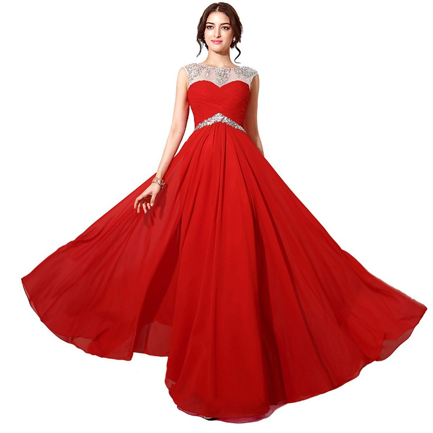 Favebridal 2015 Women 39 S Red Tulle Long Evening Prom Gown