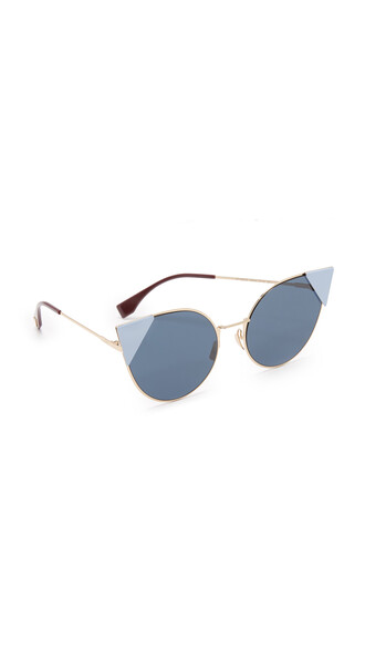 rose gold rose arrow sunglasses gold blue