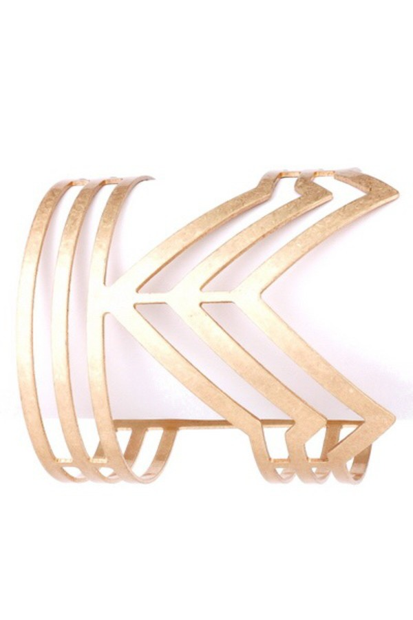 jewels arrow cuff bracelet gold girly wishlist hipster wishlist