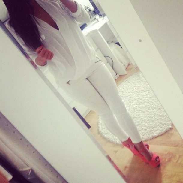 blouse shoes high heels cute sexy love perfect pink white tumblr wolf
