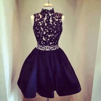 dress navy blue dress
